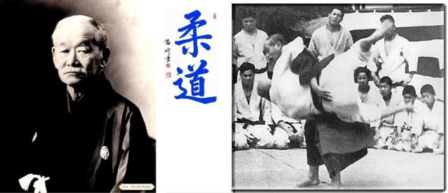Jigoro Kanō, enseñando ogoshi a uno de sus alumnos.
