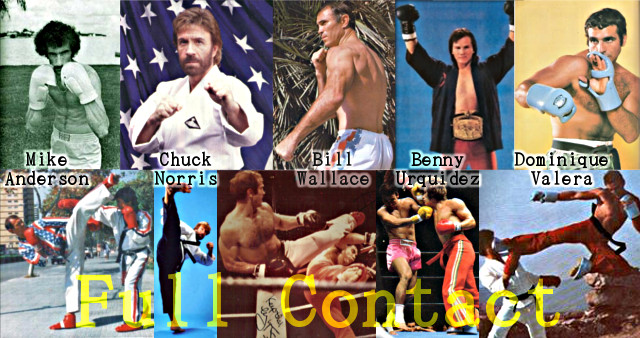 Mike Anderson, Chuck Norris, Bill Wallace, Benny Urquidez y Dominique Valera, los padres del Full Contact.