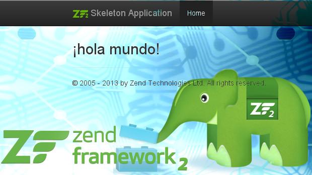 hola mundo con zend framework 2