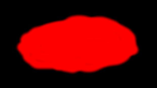 Explosión 1, mancha roja