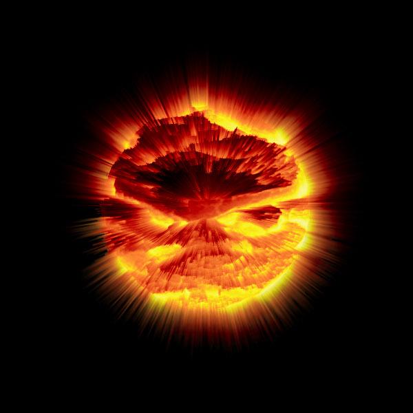 Explosión planetaria con Gimp - Paso 7: Aplicar degradado