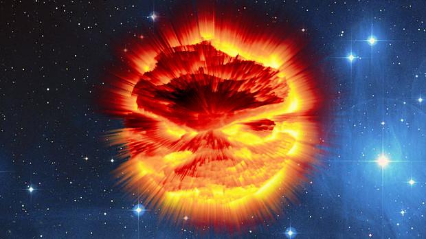 Explosión planetaria con Gimp